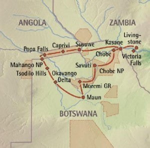 Alternative Reiseroute - Botswana Reisen